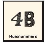 Huisnummers, Smeedijzeren producten